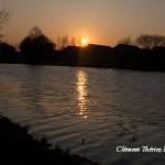 Couché de Soleil sur un étang