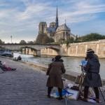 Peintres à Notre Dame de Paris