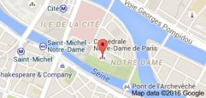 Plan pour ce rendre à Notre Dame de Paris